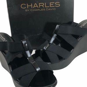 NWT CHARLES BY CHARLES DAVID STRAP WEDGES